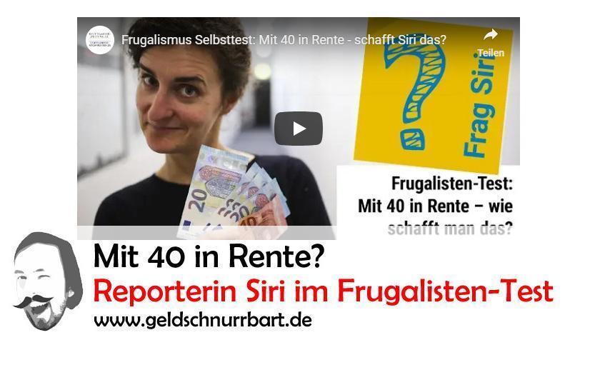 Mit 40 in Rente? Siri von der Stuttgarter Zeitung im Frugalistentest