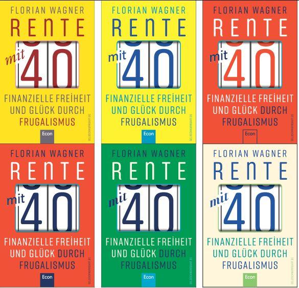 Covervarianten Buch Rente mit 40