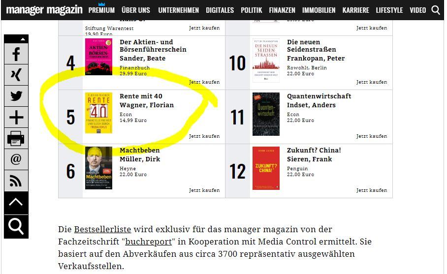 Bestsellerliste ManagerMagazin