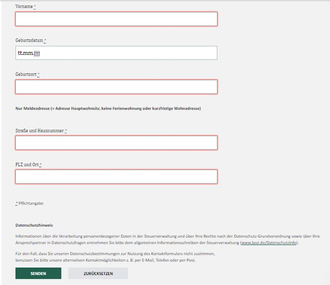Steuernummer Online Abfragen